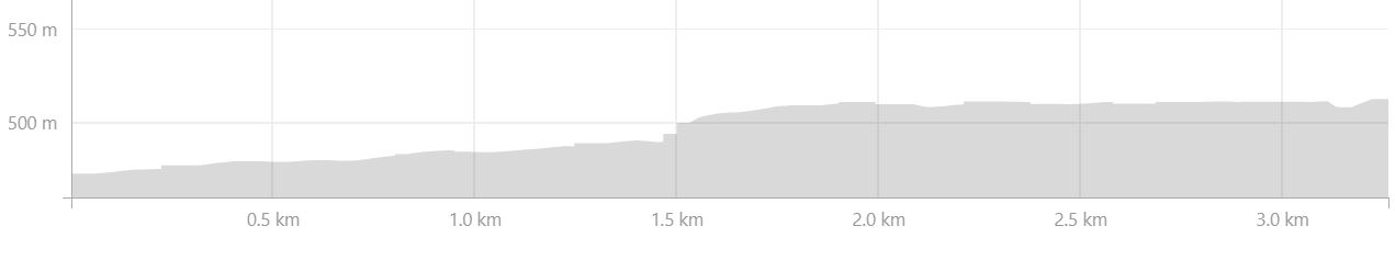 Basic altitude profile of the hike from Hólaskjól to Álftavötn in the Central Highlands of Iceland - from Strava