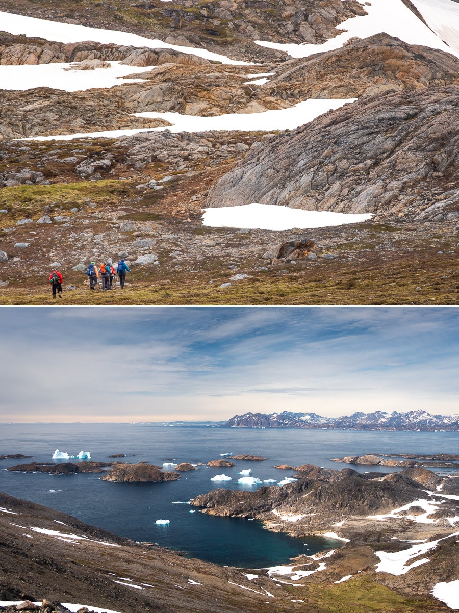 Rocks, snow and ice in the fjords- Kulusuk Island - East Greenland