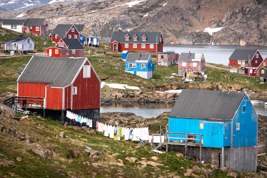 Colorful houses of Kulusuk - East Greenland