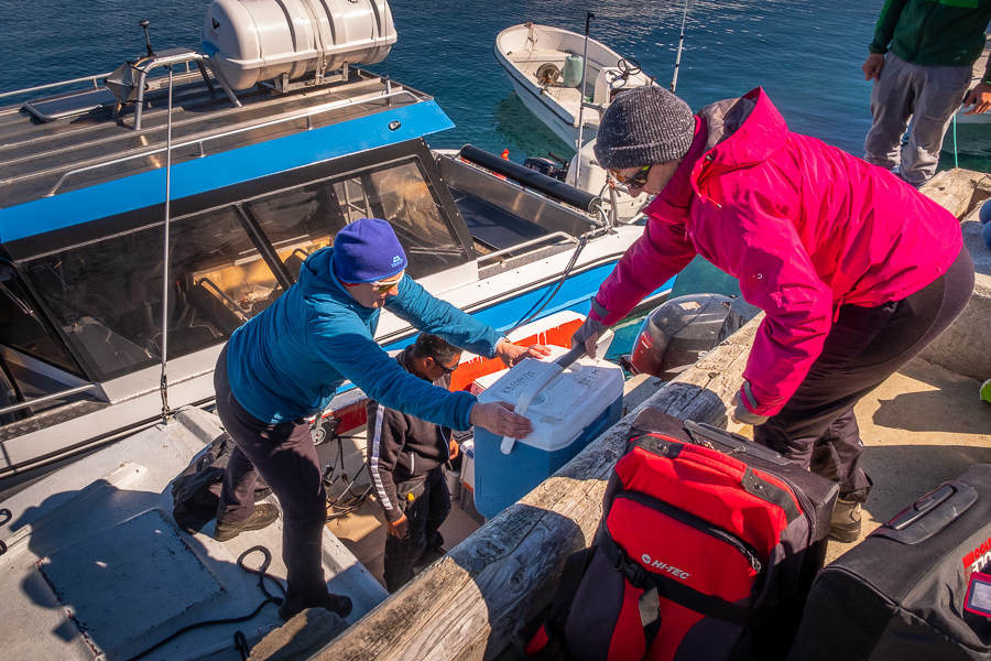 Loading the boat with our gear - Kulusuk Harbour - East Greenland