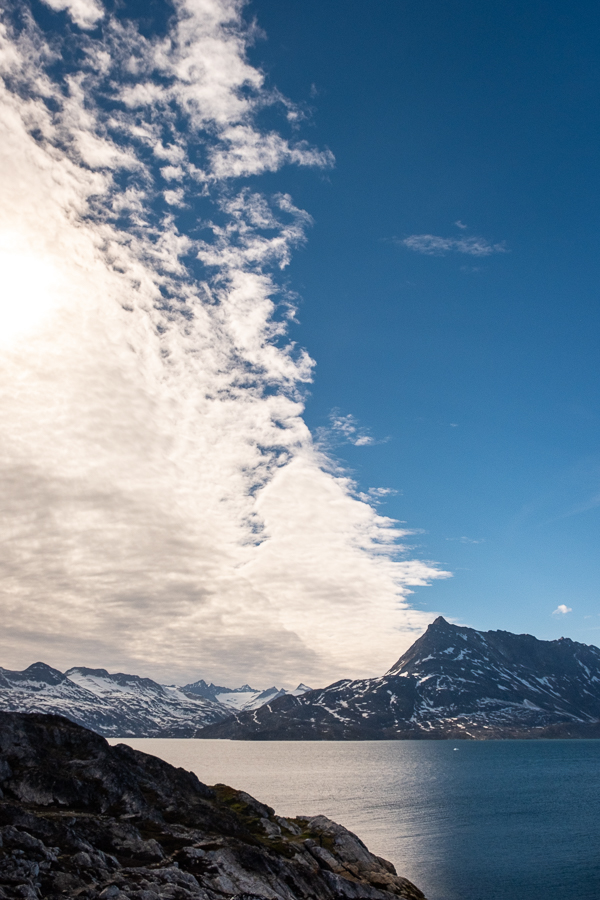 Weather front coming over Kuummiut Fjord - East Greenland