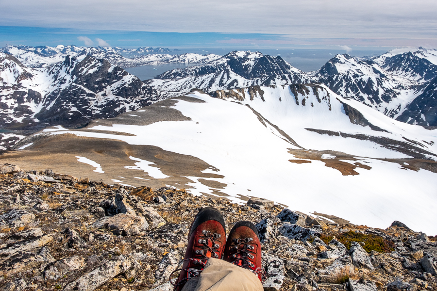 One of the views from the summit of Mt Kuummiut - East Greenland