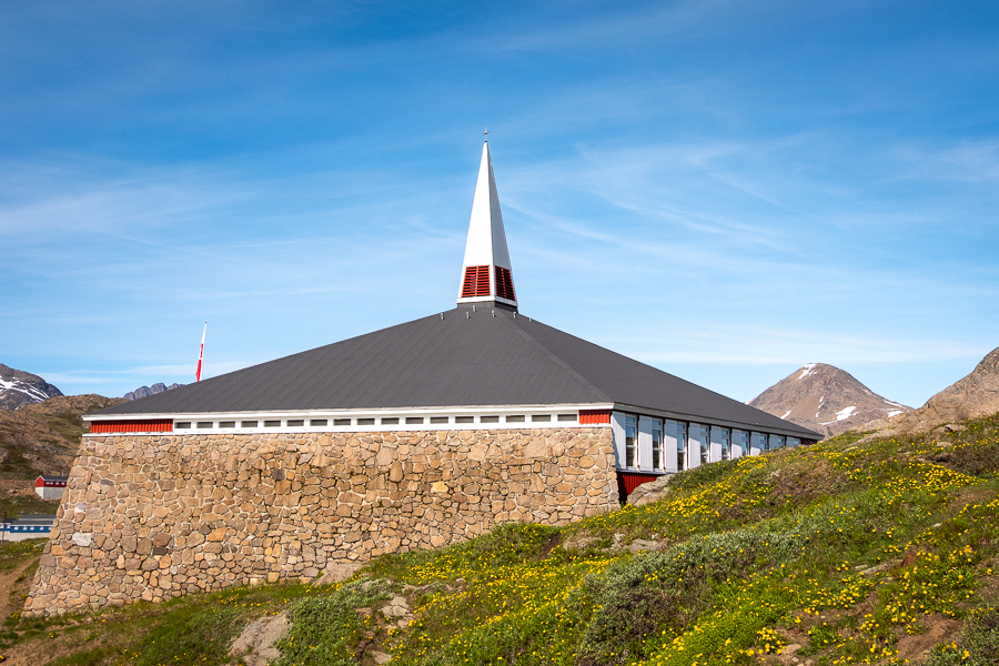 Exterior of Tasiilaq Church - East Greenland