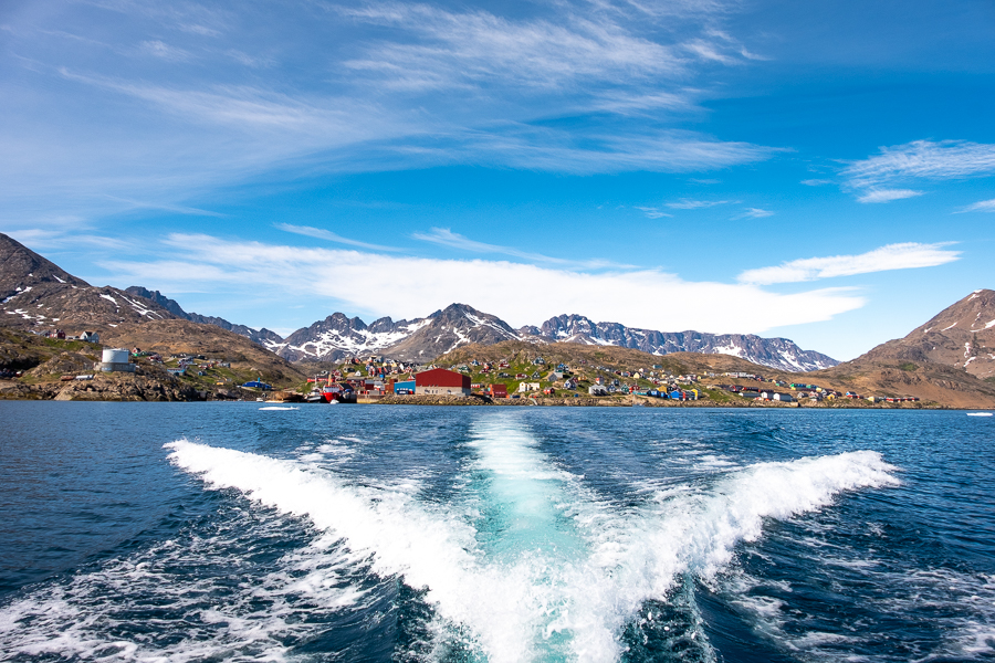 Leaving Tasiilaq on a boat transfer to Kulusuk - East Greenland