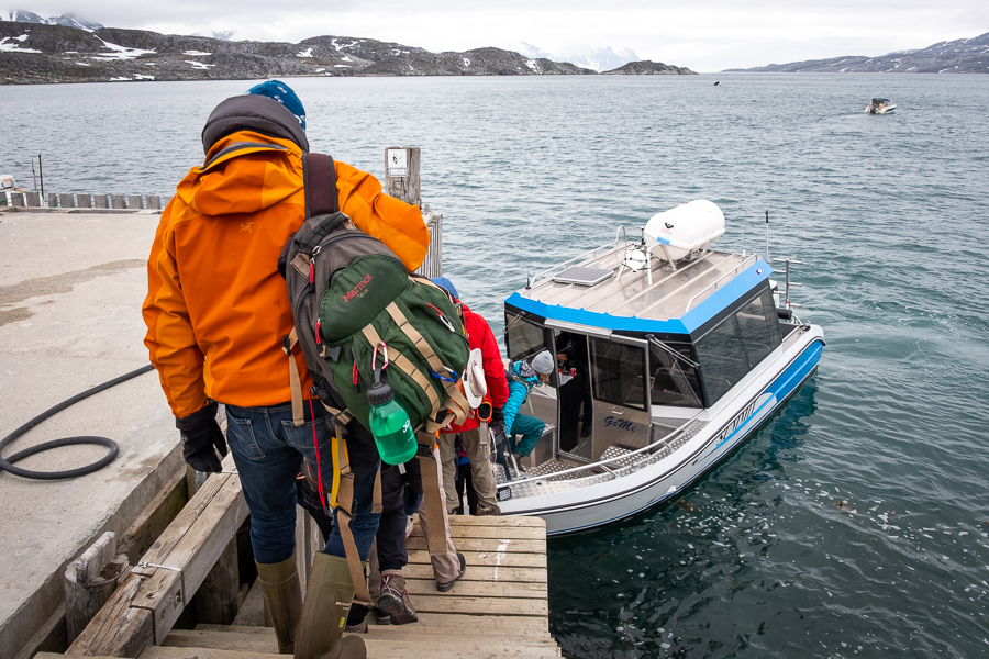 Catching our transfer from Kuummiut to Tiniteqilaaq - East Greenland