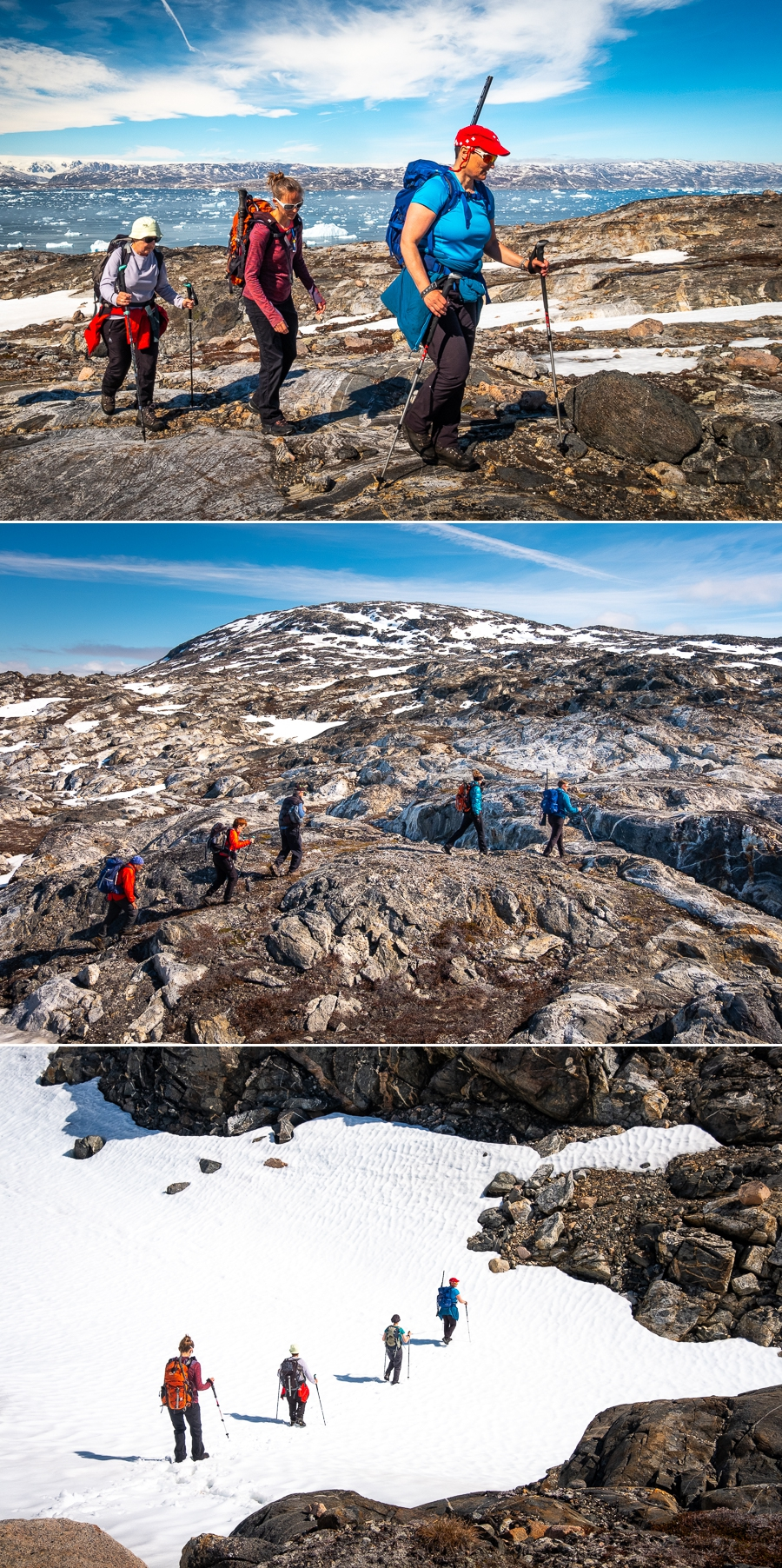 views of our hiking route on the day hike out of Tiniteqilaaq - East Greenland