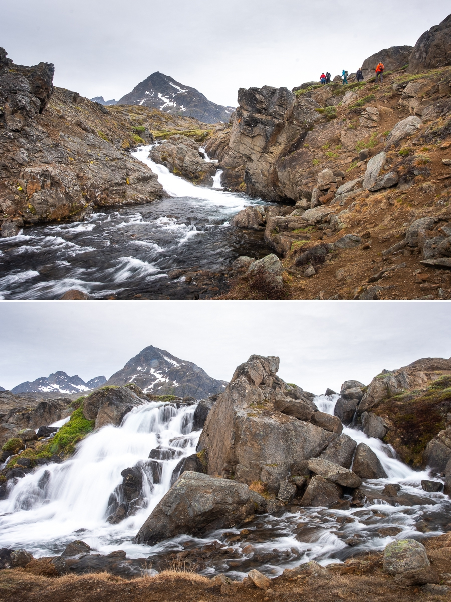 Waterfalls in the Flower valley - near Tasiilaq - East Greenland