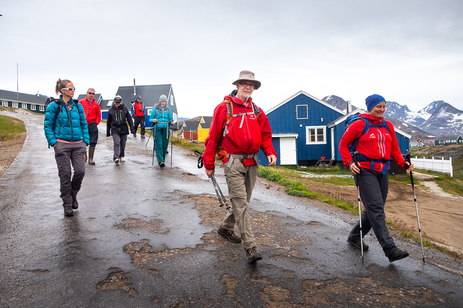 A wet start to our hike around Tasiilaq - East Greenland