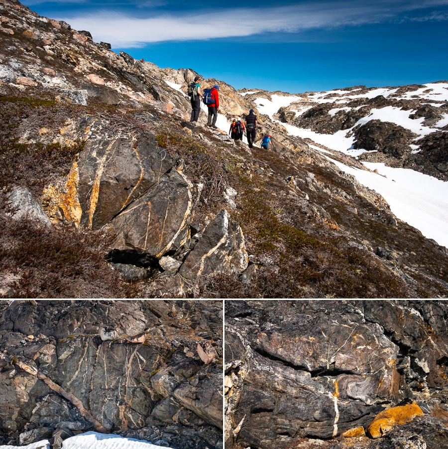 patterns in the rock look almost organic - East Greenland