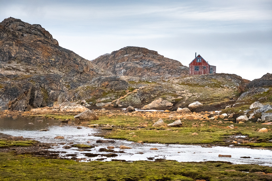 Typical Greenlandic hut at the start of the Sermilik Way - East Greenland