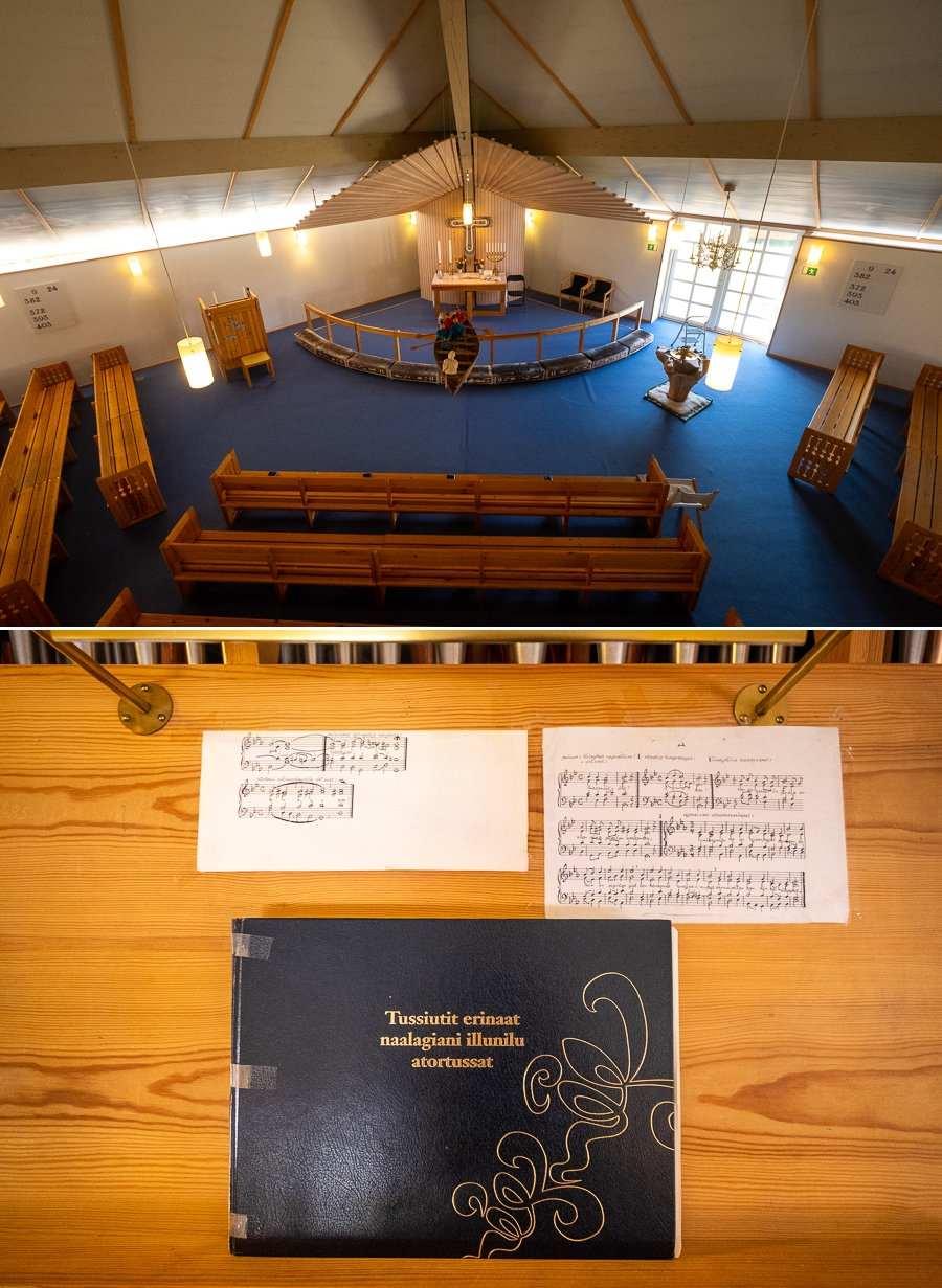 Interior of the Tasiilaq Church - East Greenland