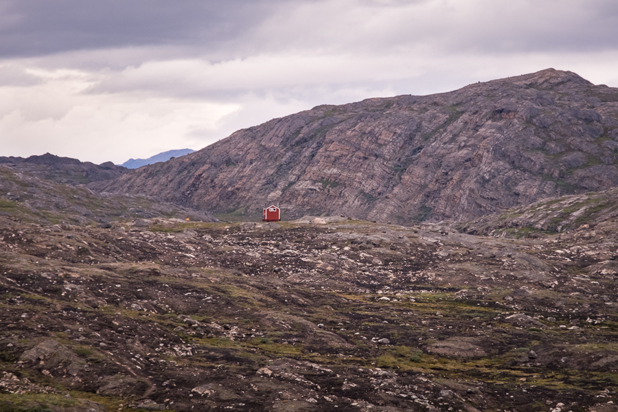 The Ikkattooq Hut surrounded by burned vegetation - Arctic Circle Trail - West Greenland