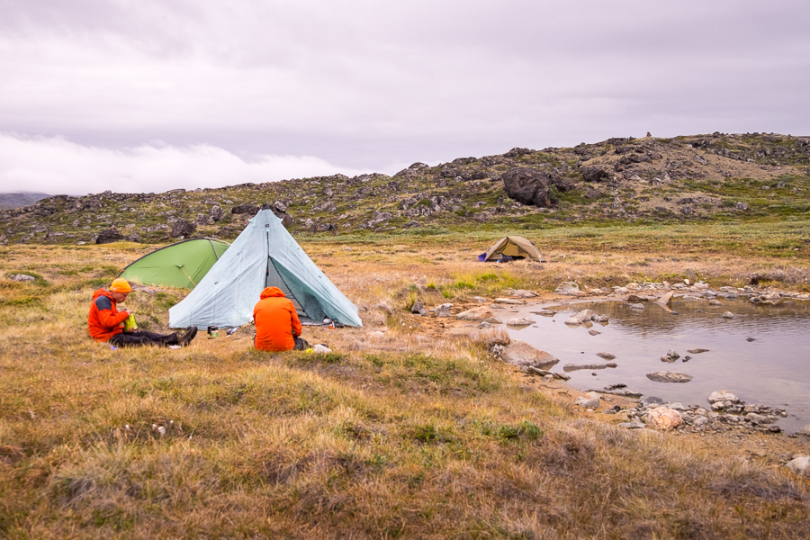 Our campsite at the end of Day 1 of the Arctic Circle Trail - West Greenland
