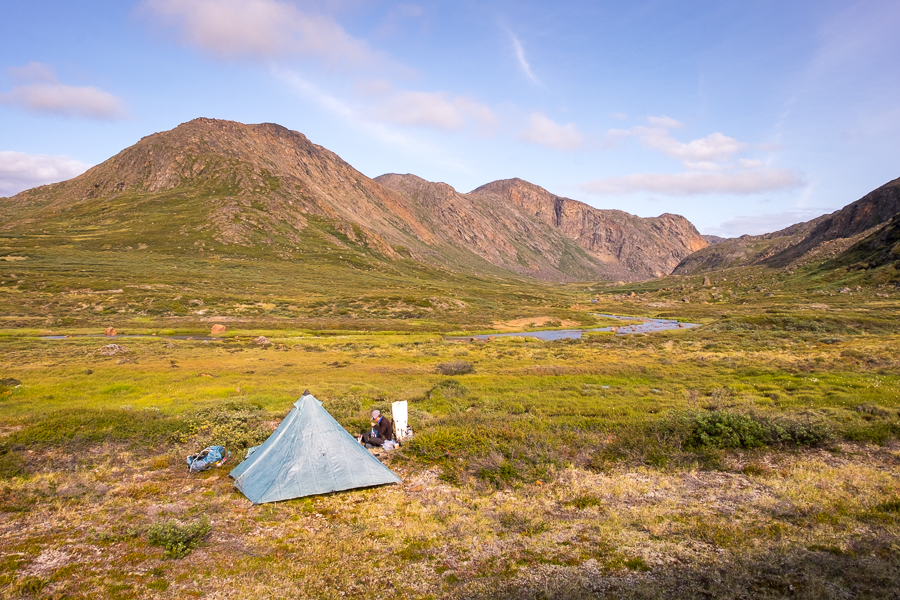Tent and campsite on Day 6 - Arctic Circle Trail - West Greenland
