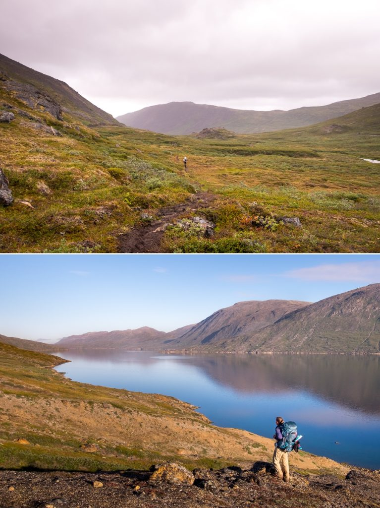 Views of different weather conditions on the Arctic Circle trail in late August 2018 - West Greenland