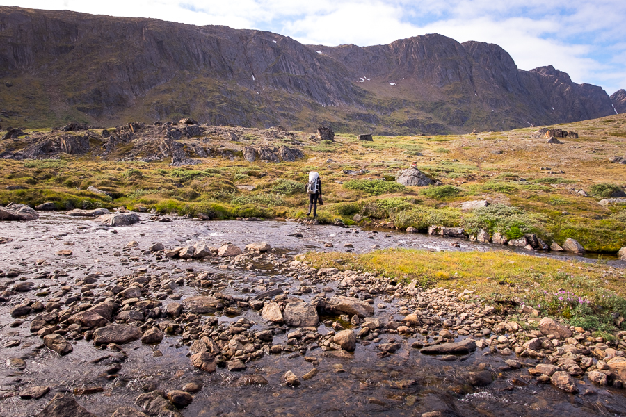 Final river crossing - Day 8 of the Arctic Circle Trail - West Greenland
