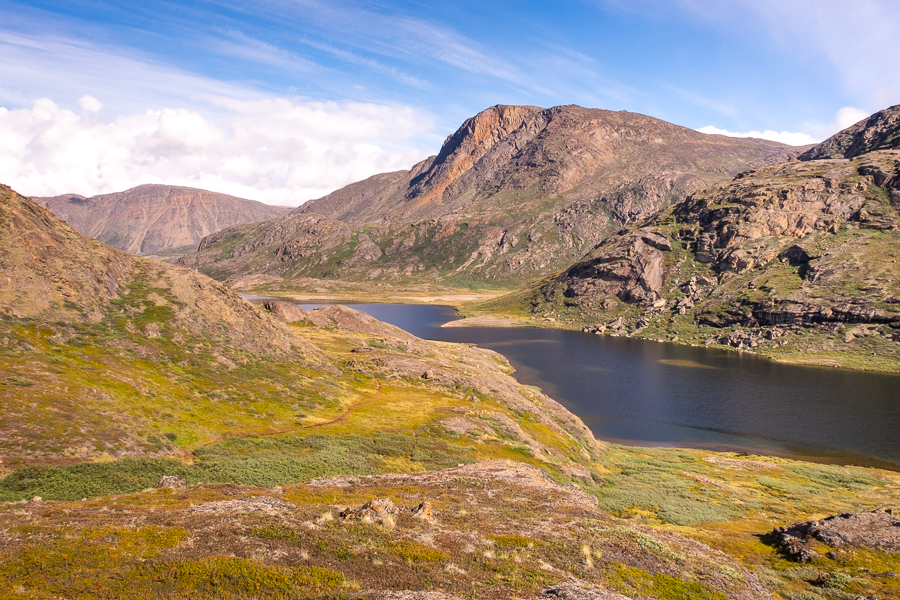 The high trail along the lake on Day 5 - Arctic Circle Trail - West Greenland