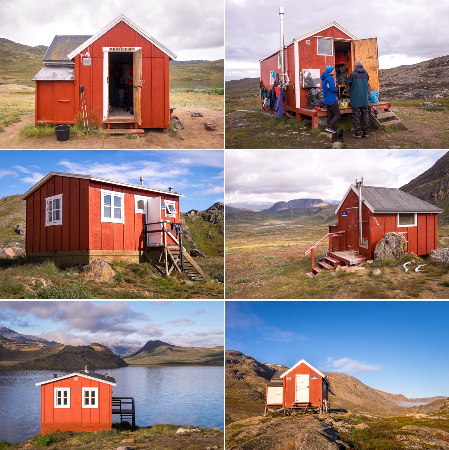 Views of some of the huts along the Arctic Circle Trail - West Greenland