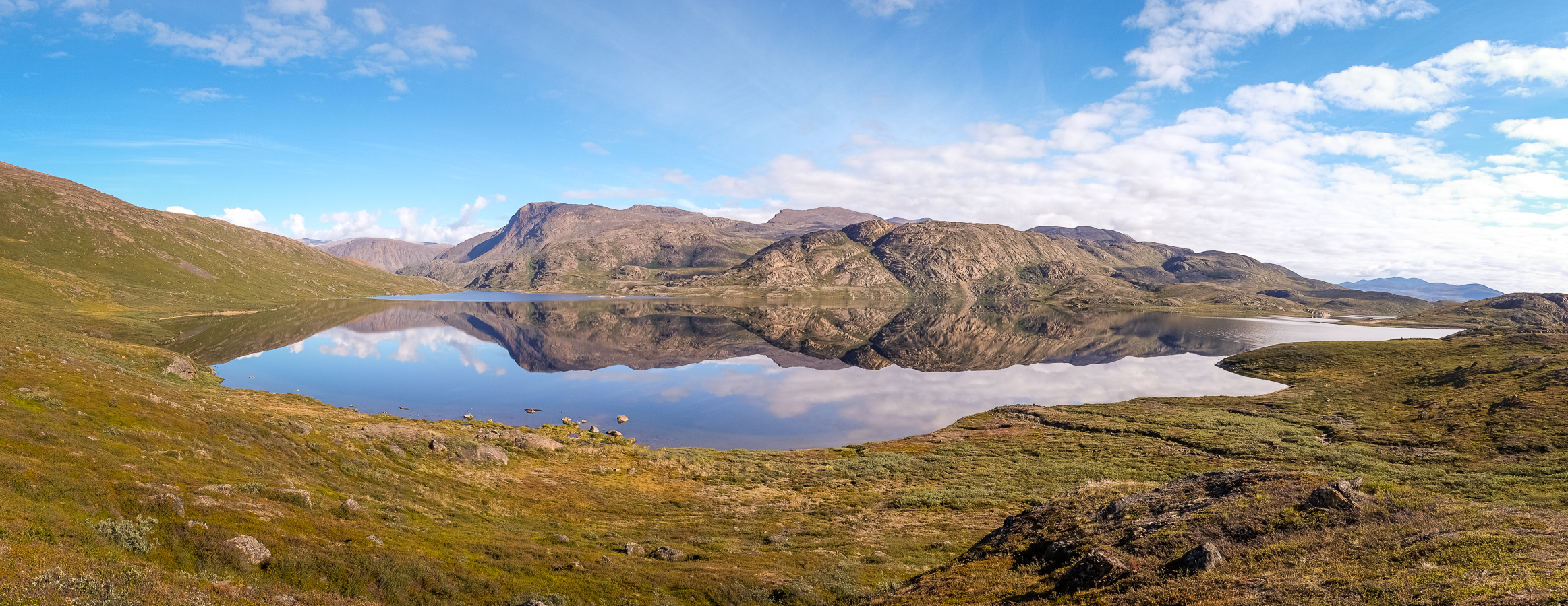 Perfect reflections in the lake - - Arctic Circle Trail - West Greenland
