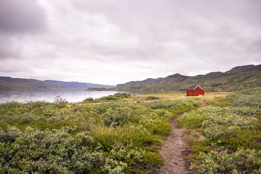 Leaving Katiffik hut - the Arctic Circle Trail - West Greenland