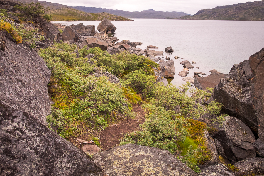 rocky obstacles along the Arctic Circle Trail - West Greenland