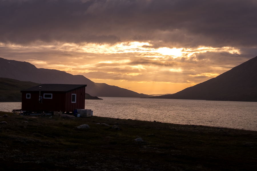 Sunset from Kangerlusarsuk Tulleq Nord Hut - Arctic Circle Trail - West Greenland