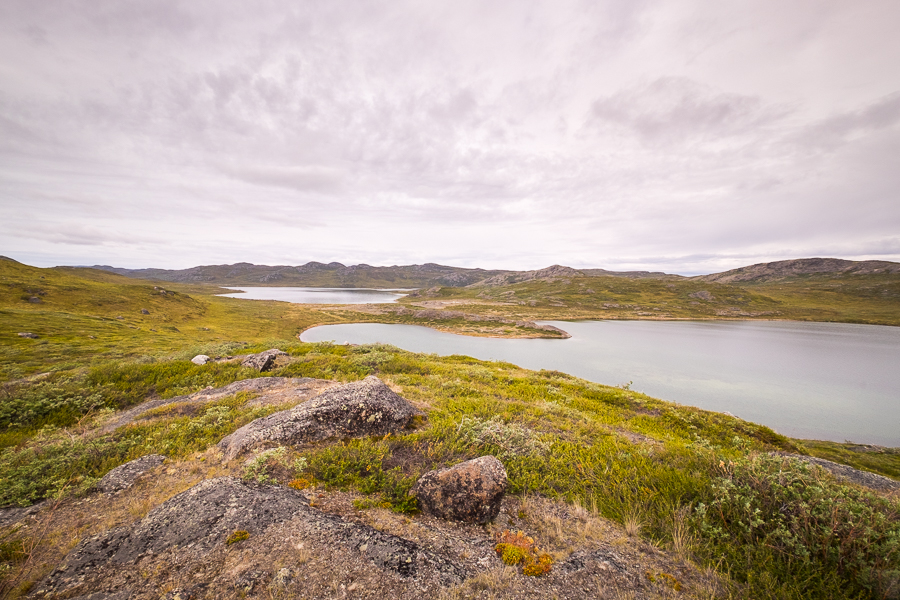 Typical scenery - mountain tarns - on Day 1 of the Arctic Circle Trail, West Greenland