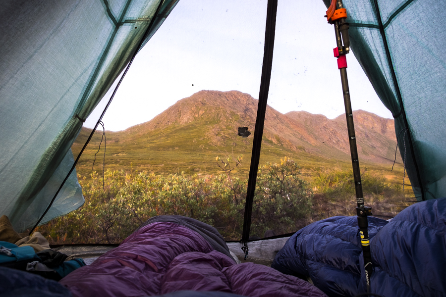 Room with a view from our tent at the end of Day 6 - Arctic Circle Trail - West Greenland