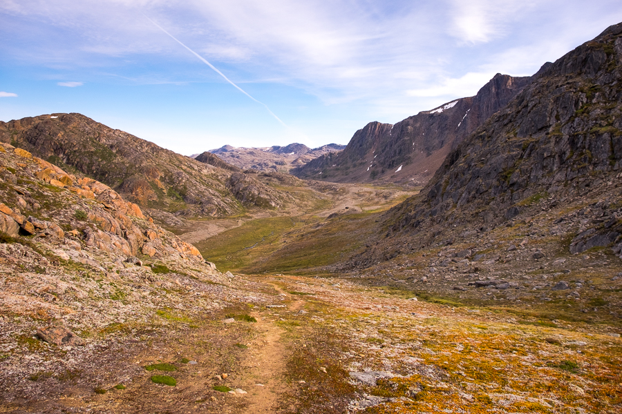 Trail coming up from the Arctic Circle Trail - Nasaasaaq mountain - Sisimiut, West Greenland