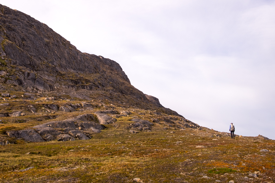 Heading along an uncertain trail - Nasaasaaq mountain - Sisimiut, West Greenland