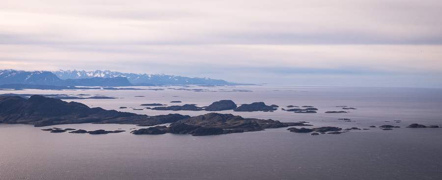 Peaks to the south of Sisimiut from Nasaasaaq mountain - West Greenland