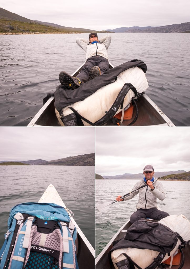 Relaxing and paddling along the Amitsorsuaq Lake - Arctic Circle Trail - West Greenland