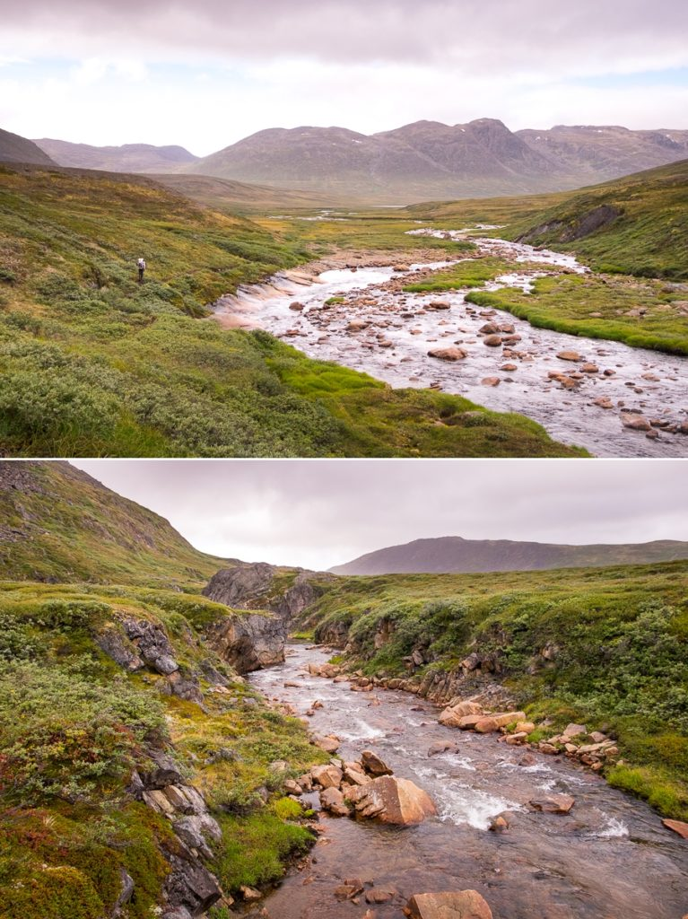 River crossings on Day 7 - Arctic Circle Trail - West Greenland