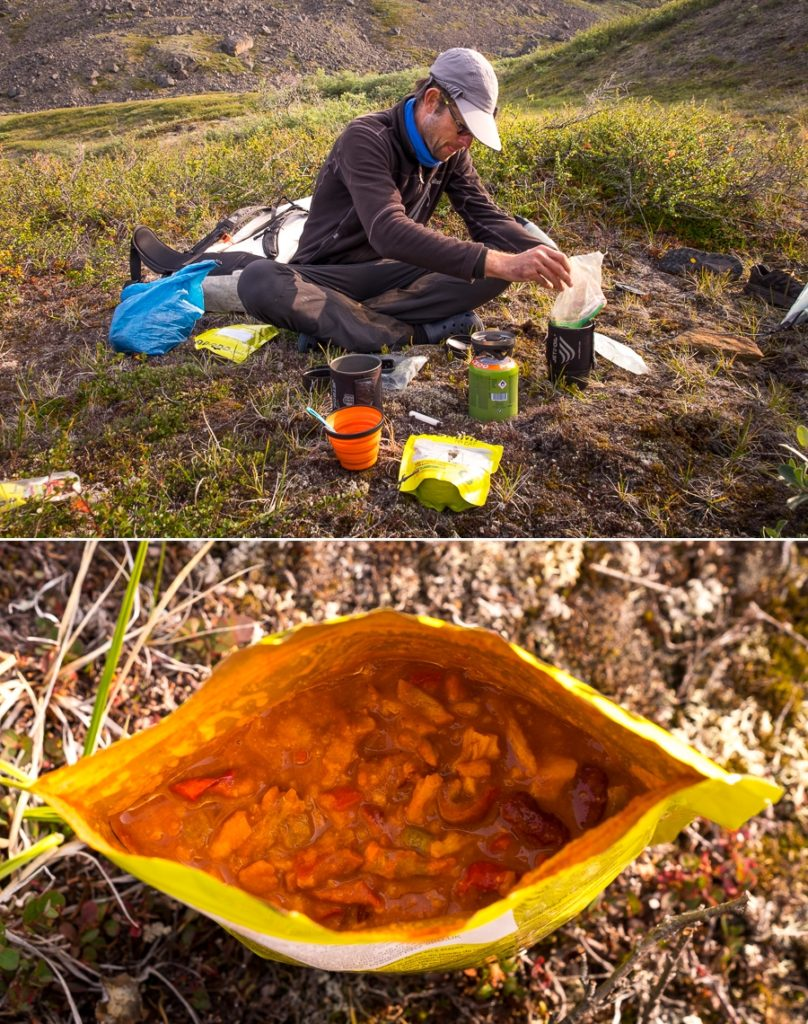Preparing main meal on the Arctic Circle Trail - West Greenland