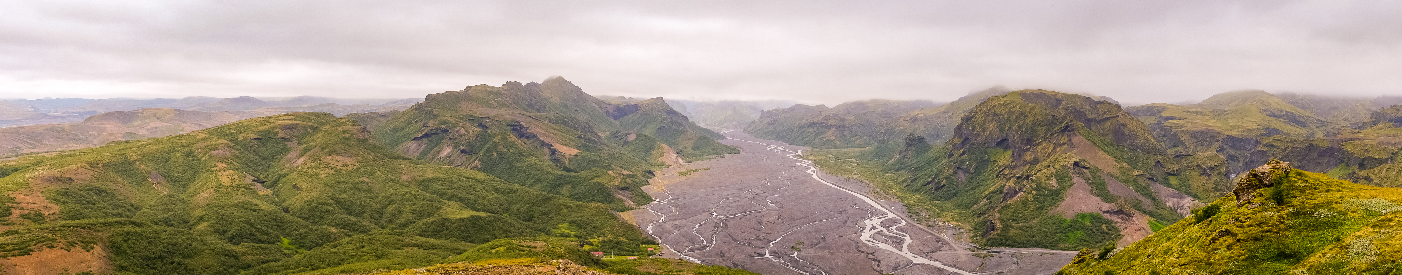 Panorama from Valahnúkur Mountain viewpoint - Laugavegur Trail - Icelandic Highlands