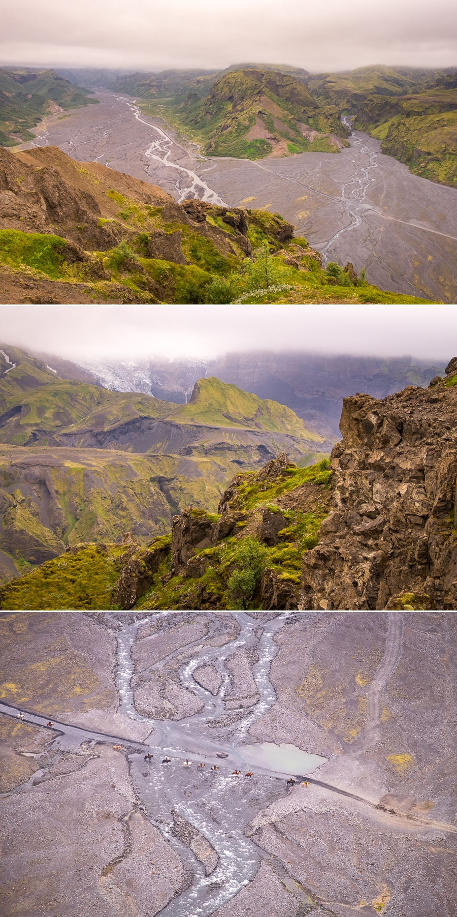 Views from Valahnúkur Mountain viewpoint - Laugavegur Trail - Icelandic Highlands