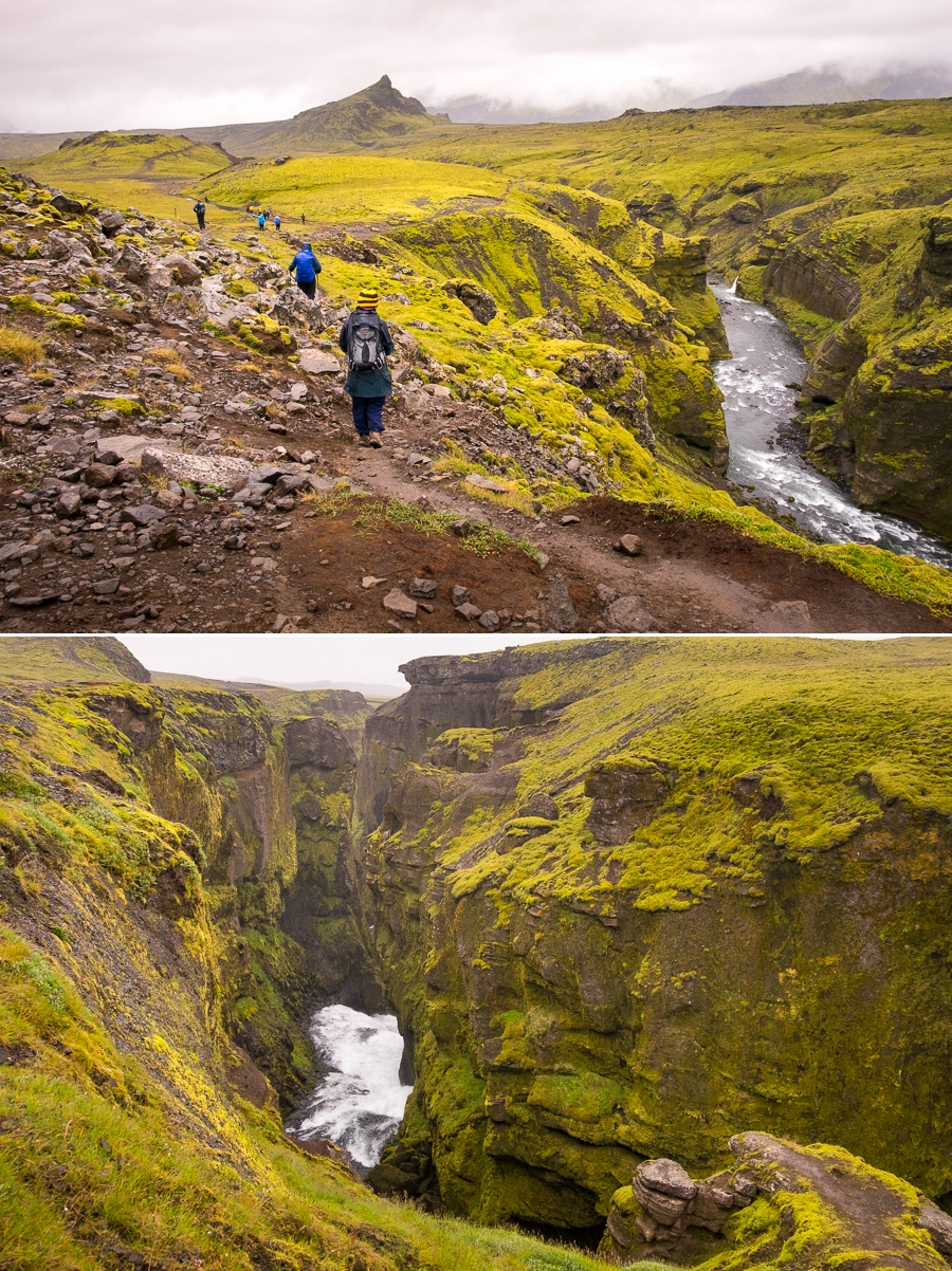 Canyons at the end of Day 7 hike - Laugavegur Fimmvörðuháls Trail - Icelandic Highlands
