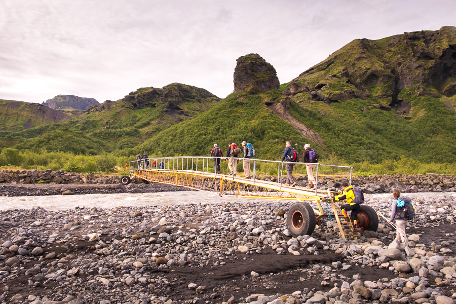 Bridge over Krossá River - Laugavegur Trail - Icelandic Highlands