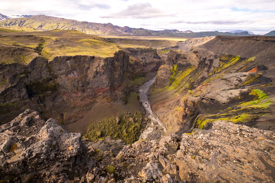 The Markarfljót canyon - Laugavegur Trail - Icelandic Highlands
