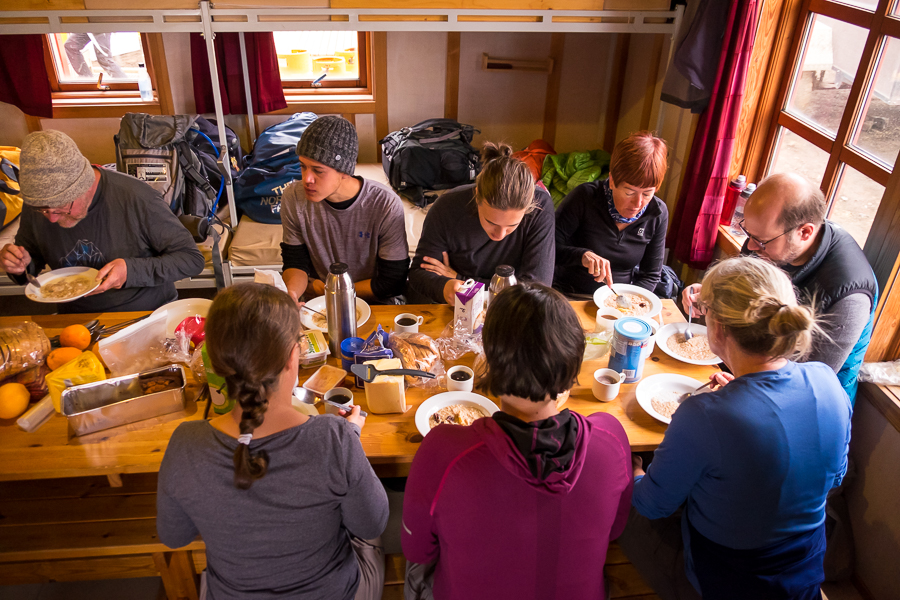 Breakfast at Hrafntinnusker Hut - Laugavegur Trail - Icelandic Highlands