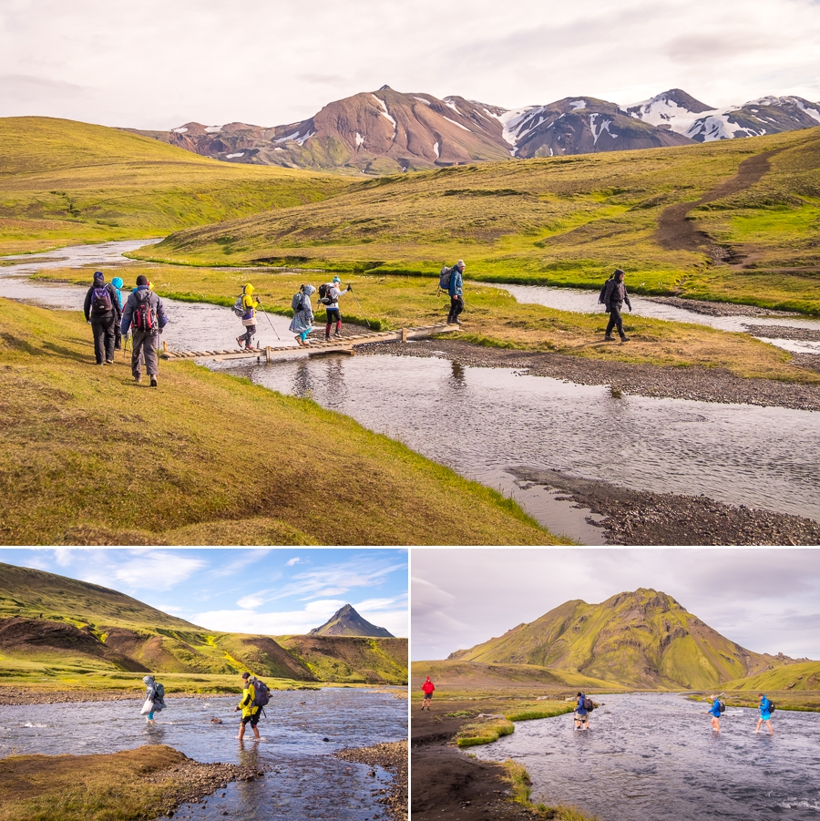 River crossings on Day 3 - Laugavegur Trail - Icelandic Highlands