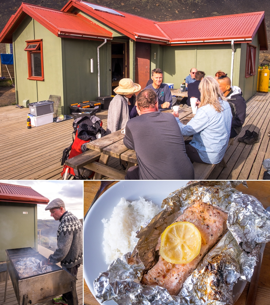 Relaxing and cooking dinner at Botnar Hut in Emstrur - Laugavegur Trail - Icelandic Highlands