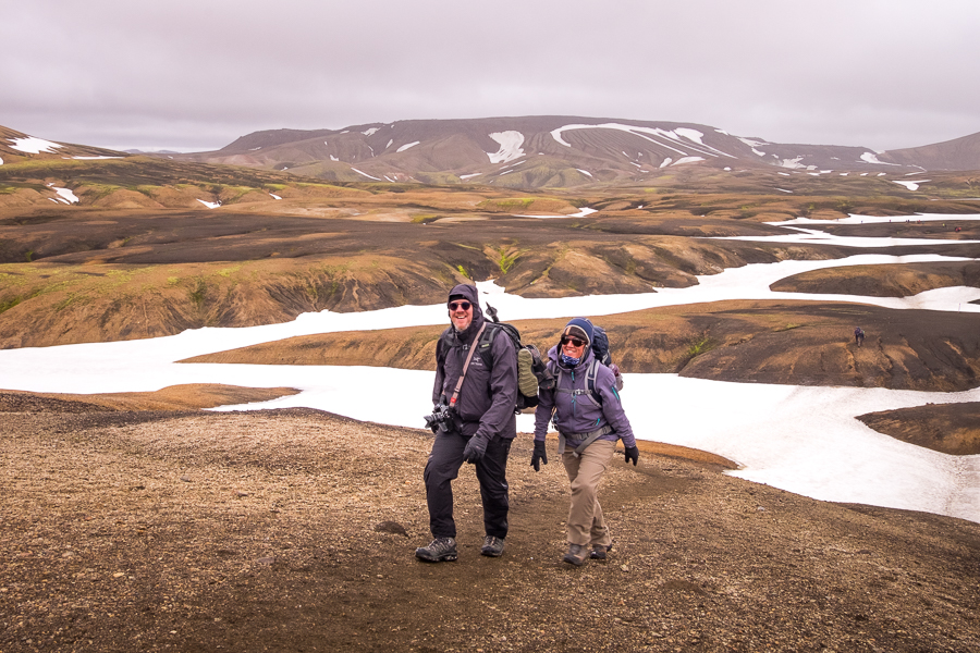 Happy hiking companions - Laugavegur Trail - Icelandic Highlands