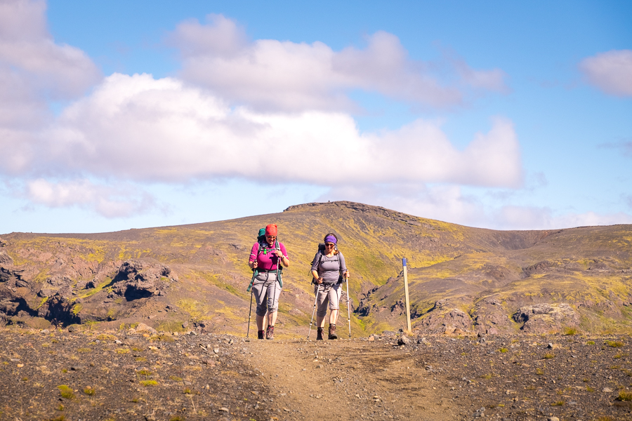 Hiking in the sun on Day 4 - Laugavegur Trail - Icelandic Highlands