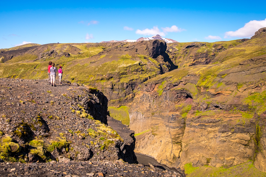 Looking out over the Markarfljót Canyon - Laugavegur Trail - Icelandic Highlands