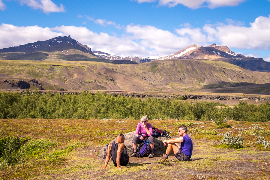 Rest stop on Day 4 of Laugavegur Trail - Icelandic Highlands