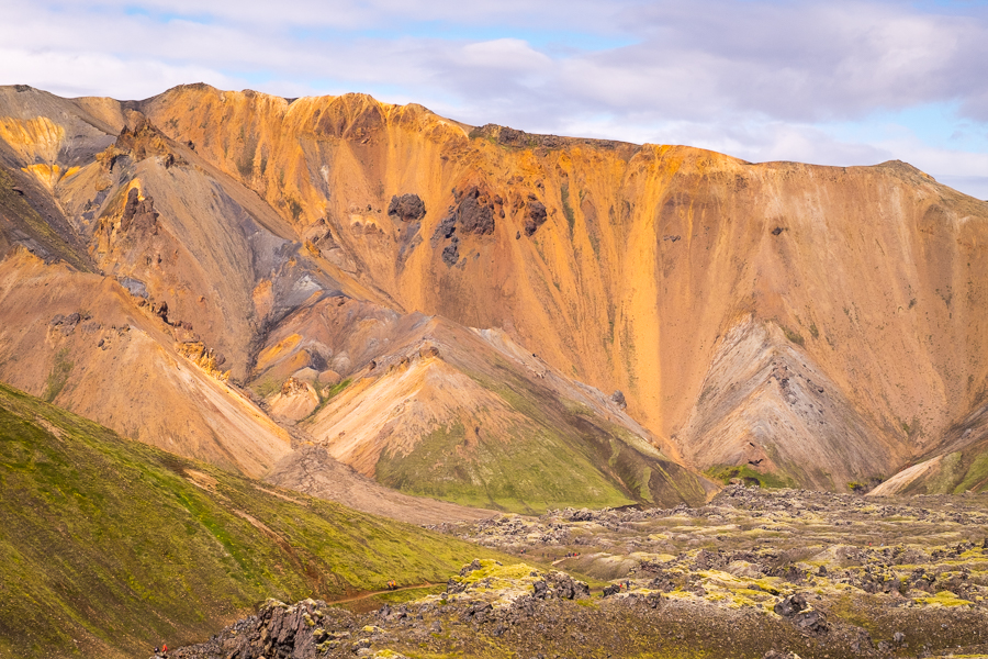 Colorful rhyolite hills that are typical of the start of the Laugavegur Trail - Icelandic Highlands