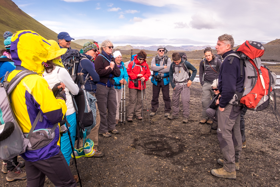 Sigthor telling another folk story on Day 3 - Laugavegur Trail - Icelandic Highlands