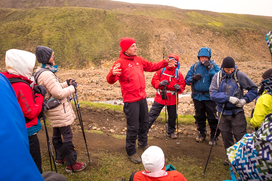 Sigthor telling us stories about Trolls - Laugavegur Trail - Icelandic Highlands