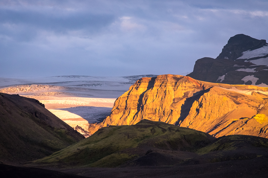 Sunset from Botnar Hut in Emstrur - Laugavegur Trail - Icelandic Highlands